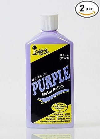 California Custom Products Purple Metal Polish/deoxidizer Combo: image