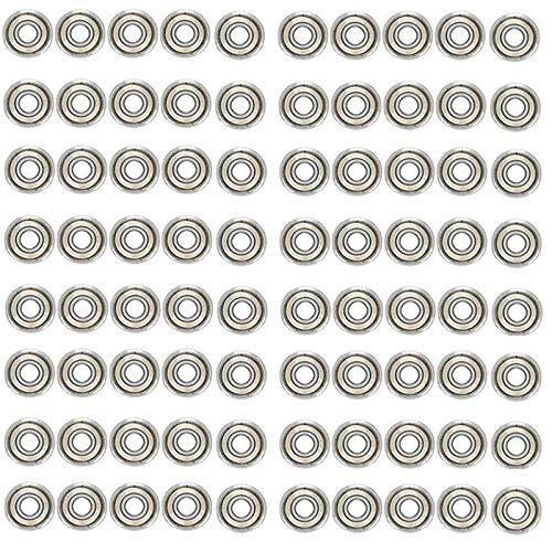 Huante 80 Piezas 608Zz Rodamiento 8X22X7 Mm Abec-5 Patín Cochecito Miniatura 608 Zz Rodamientos de Bolas 608Z 608 2Z Rodamiento