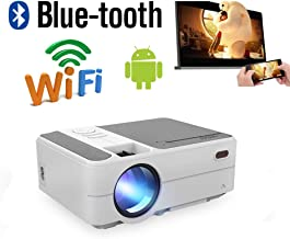 Mini LED Movie Theater Projector Wifi Bluetooth HDMI for iPhone Android Phone Laptop Mac DVD Player XBOX,LCD Smart Wireless Portable Home Outdoor TV Gaming Projector Support 1080P Audio AV VGA USB SD