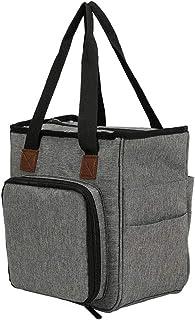 finebrand Tricotage Sac Fourre-tout Organisateur De Stockage Portable Pour Yarns Crochet Crochets Aiguilles Gris