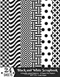 Black and White Scrapbook Paper: Scrapbooking Patterns 8.5x11 Pad - Black and White Designs for Papercrafts, Decorative Craft Papers, Backgrounds, ... & More (Black and White Scrapbooking Paper)