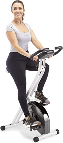 Marcy Foldable Upright Exercise Bike with Adjustable Resistance for Cardio Workout & Strength Training - Multiple Col...