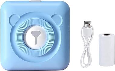 1 Pc Mini Bluetooth Printer Wireless Mobile Instant Photo Printers 203DPI Wireless USB Rechargeable