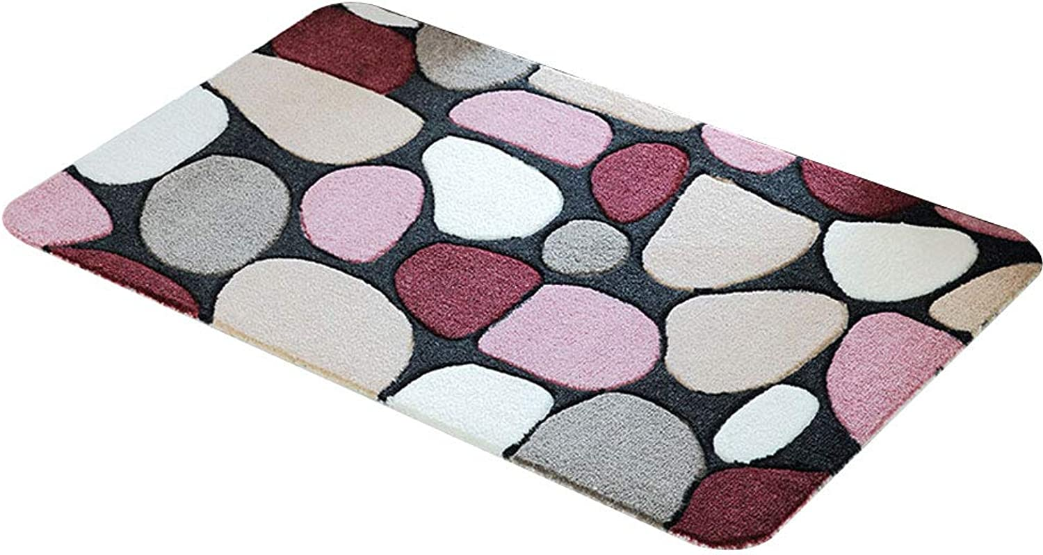Door mat Floor mat - Polyester PVC Rubber Sole, Absorbent, Non-Slip, Resistant to Three-Dimensional Cut Flowers, Fashion Cut Flowers, Home Kitchen Bedroom, Porch Strip Anti-Slip mat - 2 colors, 4 si