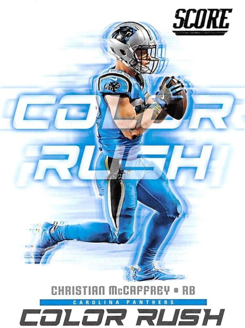 2018 Score Color Rush #8 Panthers F Discount mail order Carolina McCaffrey 55% OFF Christian