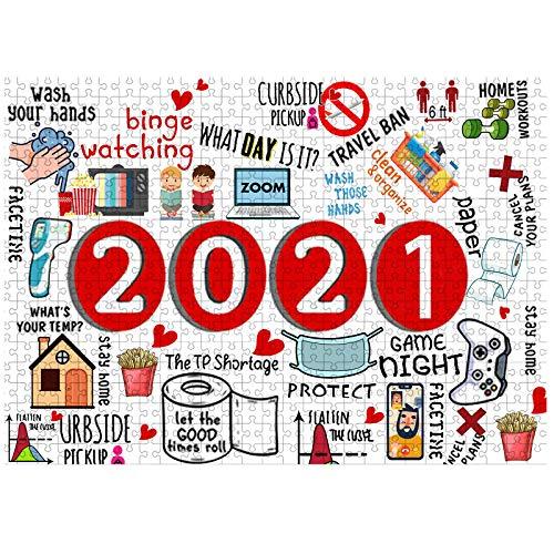 Puzzle 1000 Teile Holz Papier Jigsaw 2020 Jährliche Veranstaltung Intellektuelles Spiel Familienspiele Puzzlematte Geschenk für Familie Kinder Erwachsene