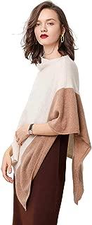 Luxury Pashmina 100% Pure Cashmere Shawl For Women Contrast Color Soft Cozy High End Scarves 4 Colors Ponchos