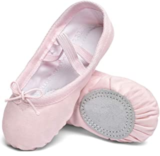 STELLE Ballet Shoes for Girls Toddler Ballet Shoes Canvas Ballet Slippers Dance Yoga Shoes