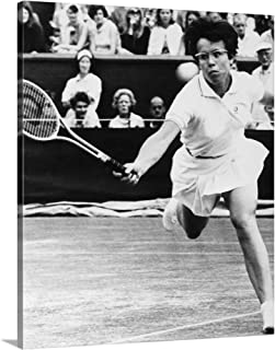 GREATBIGCANVAS Gallery-Wrapped Canvas Entitled Billie Jean King, During a Match at Wimbledon, 1968 by 24