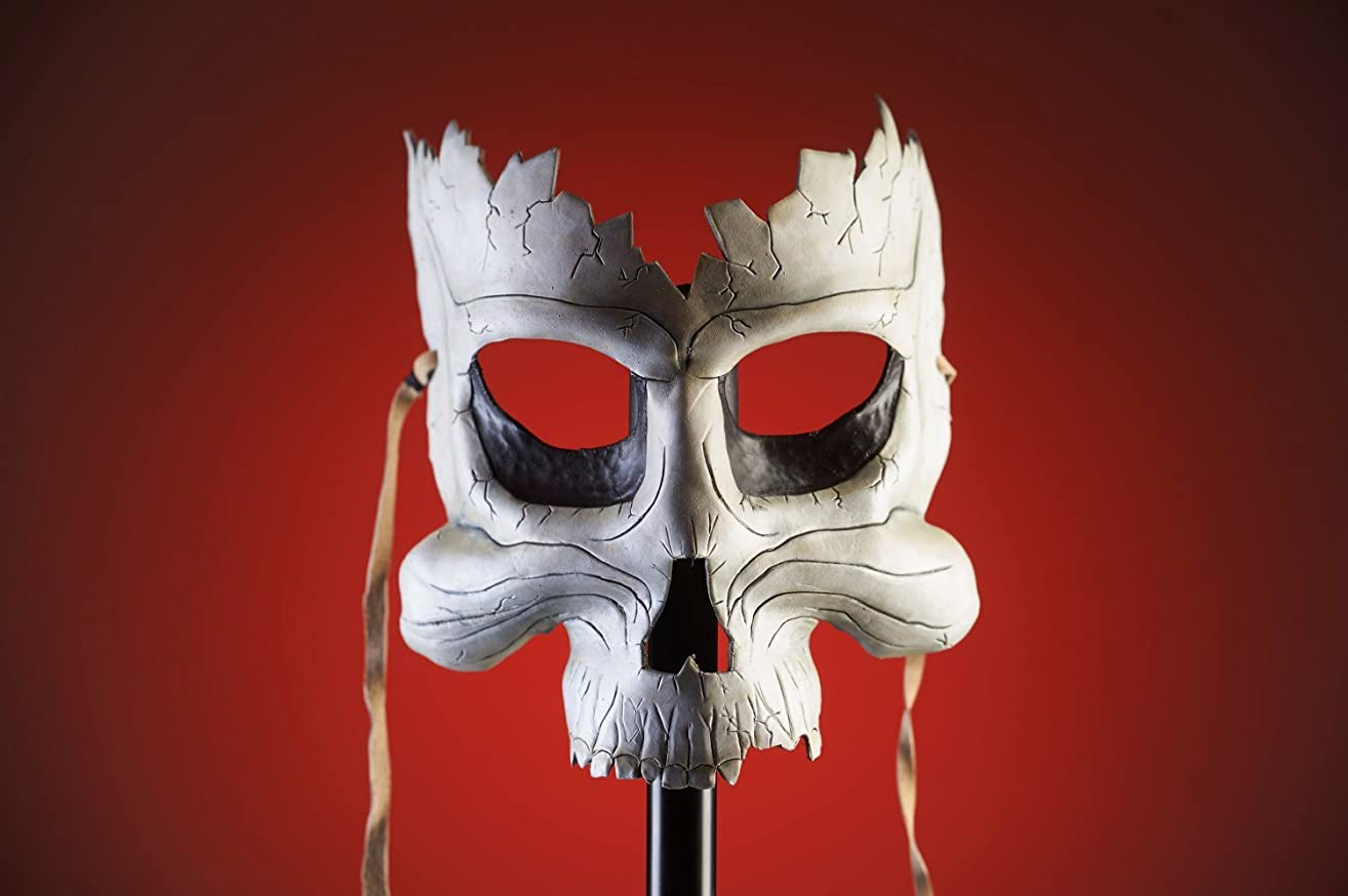 Broken Skull Handmade Genuine Leather Mask for Masquerades Halloween or Cosplay Costume