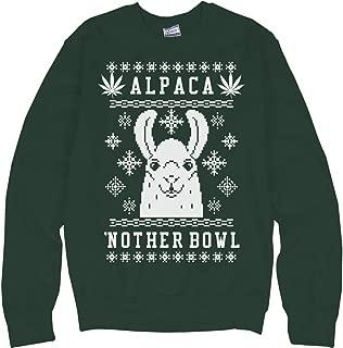 Alpaca'nother Bowl Xmas Weed Llama: Unisex Ultimate Crewneck Sweatshirt