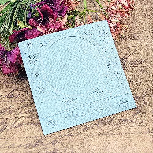 Juecan Hot plastic klok sjabloon Kerstmis kroon ambachten kaart maken papieren kaart album reliëf bruiloft decoratie mappen