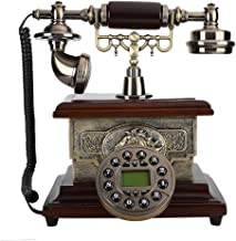 $95 » T osuny Retro Vintage Antique Telephone,Corded Rotating Dial Landline Telephone with Caller ID, Support Hands-Free,Number ...
