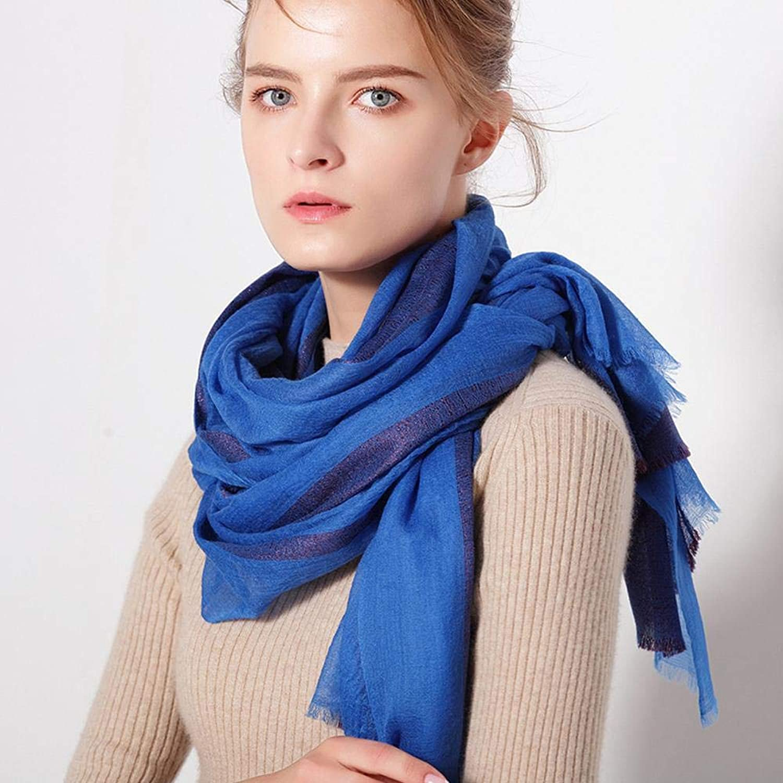 Gquan Fashion Scarf Ladies Fashion Pleated Scarf Solid color Plus Silver Long Shawl Scarf Dual use
