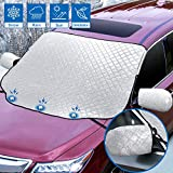 Sunbick SC001X Cubierta de nieve para parabrisas del coche, nieve/hielo/UV/polvo magnéticos, 147 x 120 cm, plata