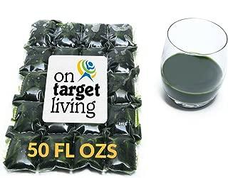 On Target Living Wheatgrass Juice - 50 Fl Ozs - $1.99 Per Oz - 100% Wheatgrass Juice - Field Grown - Flash Frozen - Unpasteurized - 100 x 0.5 Fl Oz Portions