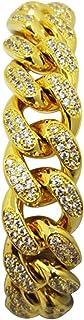BESTOYARD Pulsera para Hombre Hip Hop Rhinestones de Cristal Diamantes Cubano Chapado en Oro Enlace Cadena de joyería Deco...
