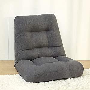 HFYAK Children s Mini Sofa Children  nbsp Tatami Lazy  Soft Folding  Solo Seater Mode Furniture for Living Room Bedroom-Dark Gray 70x70x65cm  28x28x26inch