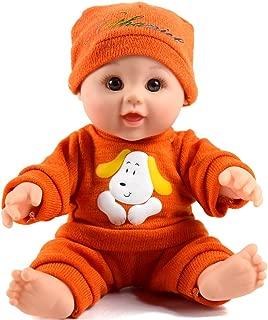 TUSALMO 12 inch Vinyl Newborn Baby Dolls for Children's and Granddaughters Holiday Birthday Gift, Lifelike Reborn Washable Silicone Doll, Reborn Baby Doll.(Orange 2)