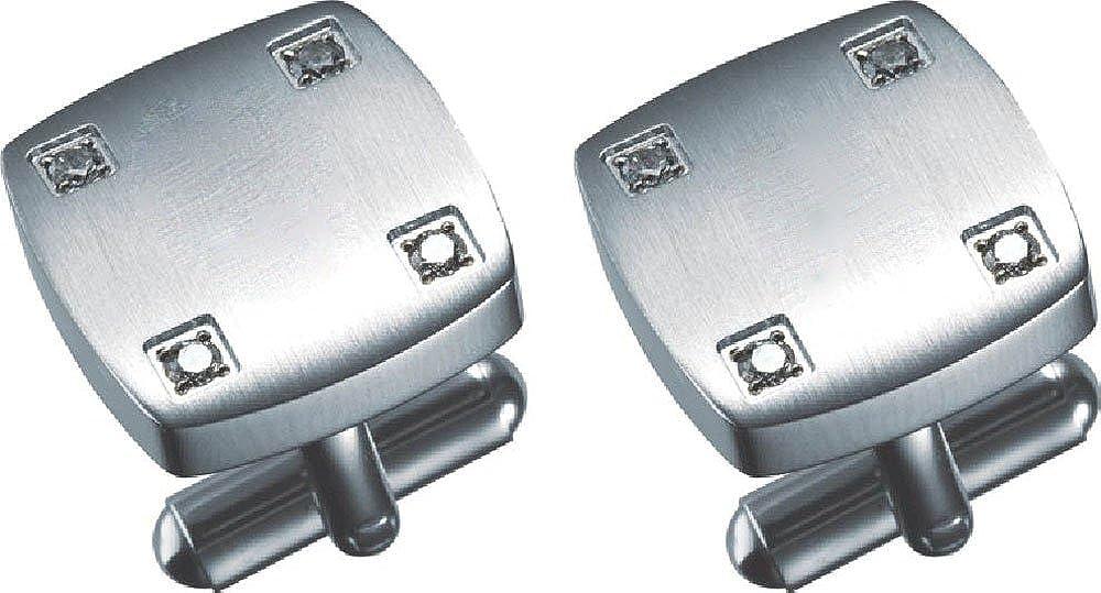 Visol Angelo Stainless Steel Engravable Cufflinks