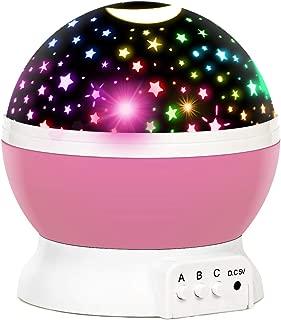 Refasy Children Projection Lamp Moon Star Night Light Toys for Kids