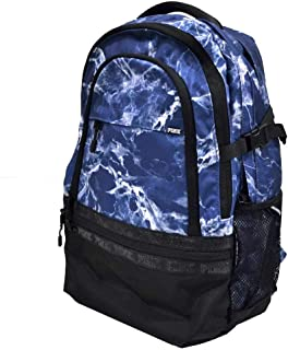 Pink Campus Backpack Black/Stone Blue Marble