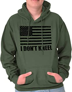I Don't Kneel Anti-Protest Pro-Trump MAGA Hoodie
