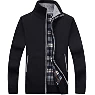 Vcansion Men's Classic Soft Thick Knitted Cardigan Sweaters Long Sleeve Full Zip
