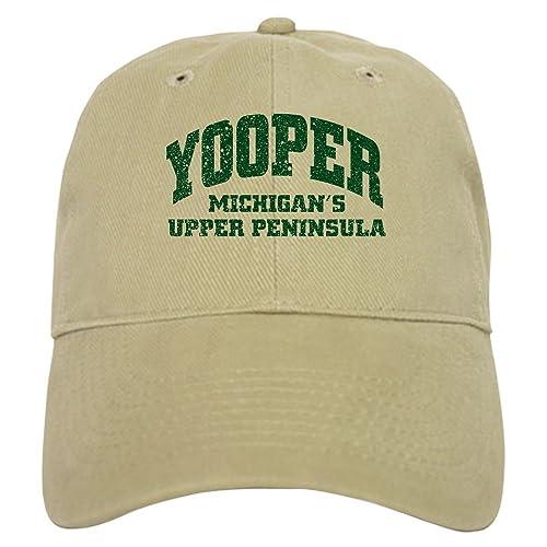 CafePress - Yooper Cap - Baseball Cap with Adjustable Closure, Unique Printed Baseball Hat White