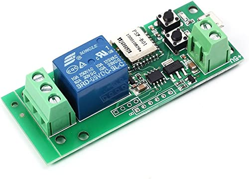 MHCOZY WiFi Wireless Smart Switch Relay Module for Smart Home 5V/12V,WiFi Momentary and Self-Locking Relay,Be Applied...