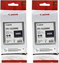 Canon 2X PFI-102MBK Pigment Matte Black Ink Tank for The imagePROGRAF iPF500/600/700 Inkjet Printers, 130 ml.