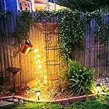 Lumières Extérieures de Jardin de Douche D'étoile Arrosoir Arrose Lumières,Lampes LED Solaires, Lanternes, Lumières d'étoiles,Décoration de Lumière d'art de Jardin A (Pot + Light + Bracket)