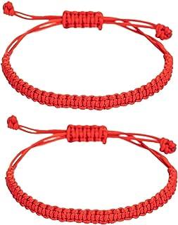 kelistom Handmade Buddhist String Bracelets for Women Men Boys Girls, Tibetan Adjustable Woven Rope Bracelet for Protectio...