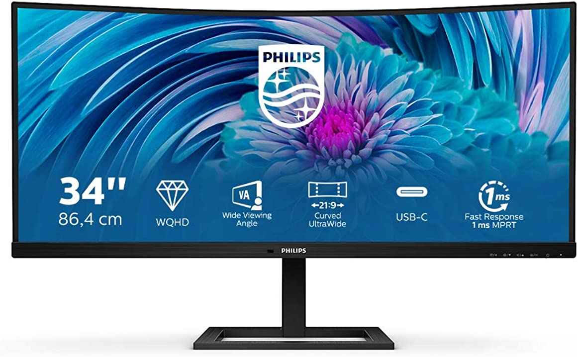 Monitor pc 34 pollici philips 346e2cuae monitor gaming 34