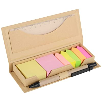 OGI Sticky Notes Set and Organizer, Colored Pag...