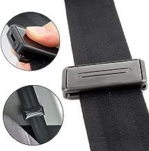 Ansblue Car Seat Belt Adjuster, Seatbelt Clips, Smart Adjust Seat Belts to Relax Shoulder Neck - 2PCS / Black