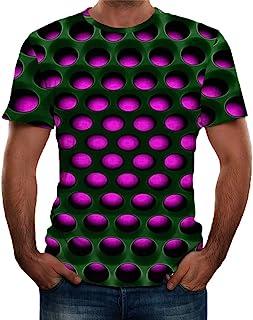 Xmiral T-Shirt Blouse Tops Moda Uomo Splash-Ink 3D Stampa Tees Shirt Manica Corta Le Coppie Primavera ed Estate Casual 3D ...