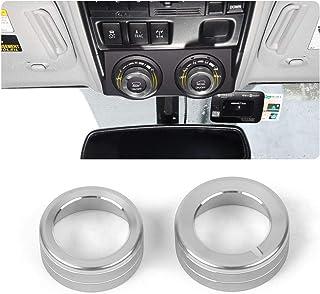 JeCar 4Runner Terrain Feedback System Button Decoration Cover Ring Trim Aluminum Alloy 4Runner Accessory Trim for Toyota 4Runner TRD 2010 2011 2012 2013 2014 2015 2016 2017 2018 2019 Silver 2Pcs