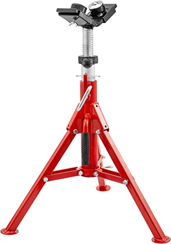 lowest Mophorn Pipe Jack Stand with 2-Ball Transfer popular V-Head and Folding Legs 4500LB Welding Pipe Stand Adjustable Height outlet online sale 20-37IN 1107C-type Pipe Jacks for Welding outlet online sale