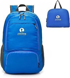 Mochila Plegable Ligera 25L, Mochila Compact Impermeable Bolso de Viaje para Hombre Mujer Nylon Resistente para Senderismo, Camping, Ciclismo Deportes al Aire Libre