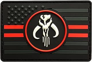 USA Flag Mandalorian Bounty Hunter Boba Fett Morale Patch (3D-PVC Rubber-MBF5)