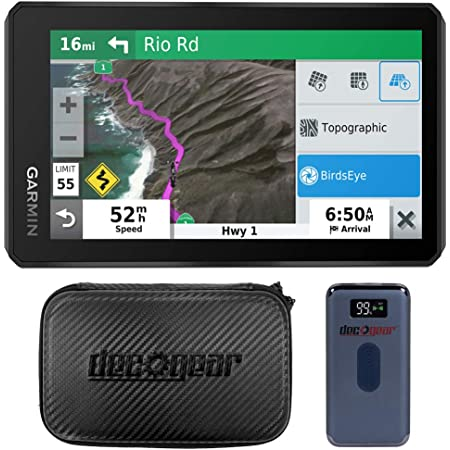 Garmin 010-02296-00 zumo XT 5.5-inch Bluetooth Hands-Free Motorcycle Navigator GPS Bundle with Deco Gear 5-Inch Hard EVA Case with Zipper and Deco Gear Power Bank 8000 mAh with Wireless Charging