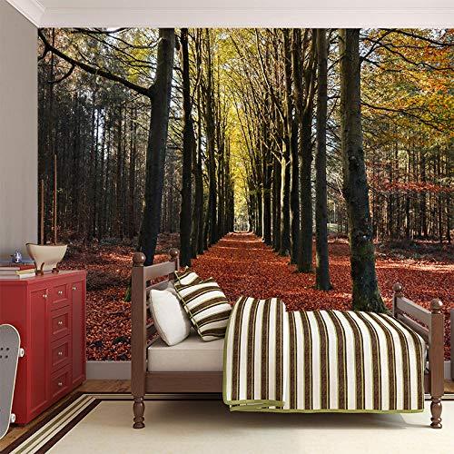 Mural behang muur Muralscustom behang op maat 3D muurschildering Middelgrote schilderij met bos achter tv bank bed als achtergrond in woonkamer slaapkamer 430 * 300cm