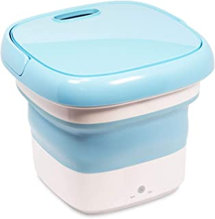 洗濯機 折りたたみ式 ブルー 最大数量4.5L タッチパネル ミニ洗濯機 折り畳み洗濯機 [折りたたんでコンパクト収納] ベビー用品 赤ちゃん 下着 靴下専用洗濯機 水と電気を節約する 持ち運びに便利で d000