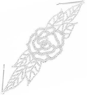 Yazilind Tendance Papillon Plaqu/é Argent Bijoux en Cristal Strass Nuptiale Peigne Pin pour Les Femmes