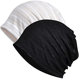 MaxNova Womens Cotton Beanie Lace Turban Soft Sleep Cap Chemo Hats Fashion Slouchy Hat