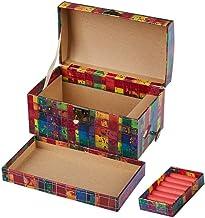 Cabilock Cardboard Music Box Jewelry Box Musical Ballerina Jewelry Box Vintage Girls Jewelry Box Makeup Storage Organizer ...