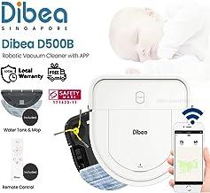 [1 Year Local Warranty] FREE ADDITIONAL HEPA FILTER - Dibea D500-B D-Shape Smart Robotic Vacuum Cleaner + Water Tank + APP...