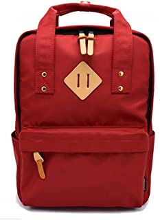 Backpack Fashion Waterproof Lightweight Large Capacity for College School Business Travel For Men Women Red