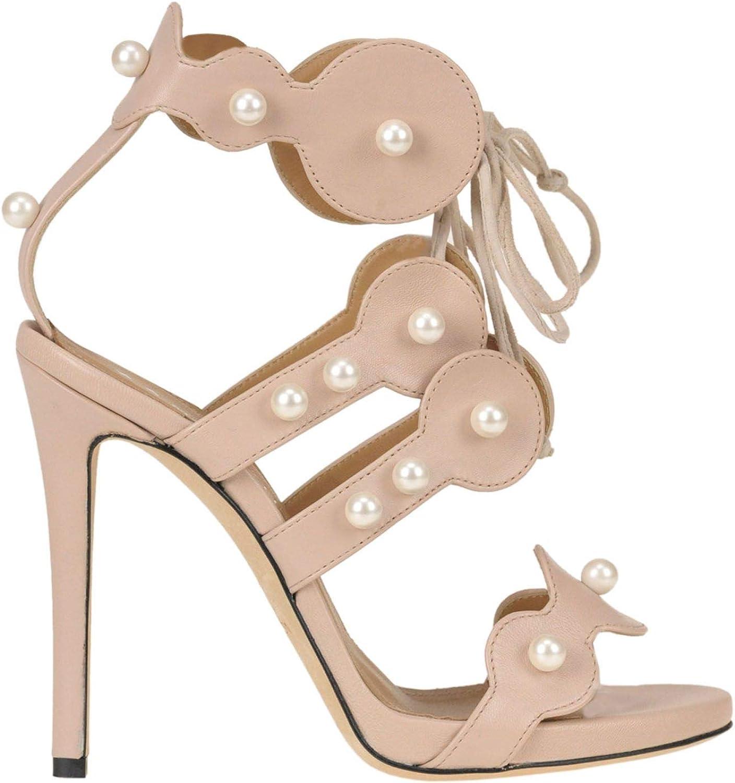 MARC ELLIS Women's MCGLCAT000005119E Pink Suede Sandals